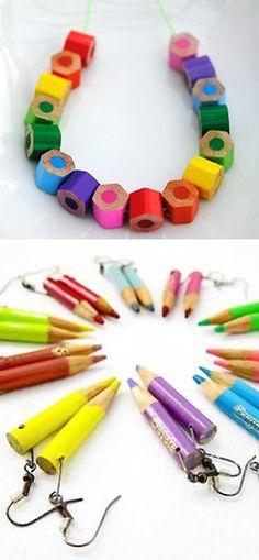 color pencil necklace