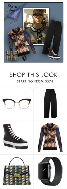 """Pensive"" by michelletheaflack ❤ liked on Polyvore featuring Thom Browne, Public School, Givenchy, Junya Watanabe, Tory Burch, polyvorecontests, librarychic and styleinsider"
