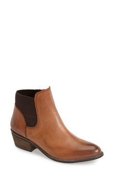 Steve Madden 'Rozamare' Leather Ankle Bootie (Women) available at Sock Shoes, Cute Shoes, Leather Ankle Boots, Ankle Booties, Tomboy Chic, Steve Madden, Chelsea Boots, Footwear, Booty