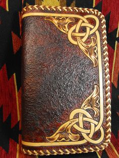 Hand Tooled Leather Celtic Western Day Planner