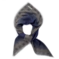 The Prince of Wales check #scarf features a subtle, printed #PrinceofWales #check with burnout in contrasting colours.