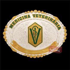 Fivela Medicina Veterinária c/ Banho Dourado e Prata - Sumetal: Mulheres