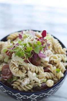 Fancy Chicken and Pecan Pasta Salad....this is the yummiest stuff in the world!! I always make a double batch cause it goes quick!