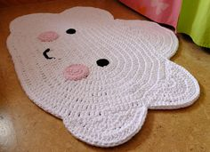 "Nursery carpet ""cloud"" / cloud carpet / crochet rug / crochet / carpet / cloud / cloud Kinderzimmerteppich Wolke / Wolkenteppich / by TaTihaekelt on Etsy Crochet Carpet, Crochet Home, Crochet Gifts, Crochet For Kids, Knit Crochet, Bandeau Crochet, Diy Tapis, Baby Kind"