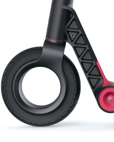 Front wheel design of the Flynn electric kickscooter.