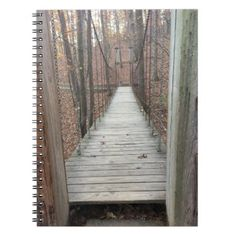 Bridge in the Woods Notebook  $12.95  by A_Lens_Full  - cyo customize personalize unique diy idea