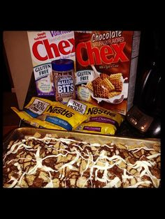 "Gluten free dessert ""Chex Mix"" idea - looks amazing and so yummy that no one would notice the missing gluten!"