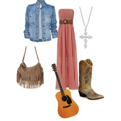 Country-Boho, created by rssoftball on Polyvore
