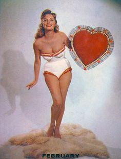 Candy cane bikini girl calendar