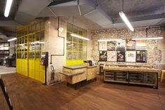 Parisian Patisserie - Designed by Retail Access, this factory-inspired Parisian patisserie is a stunning new flagship for the La Fabrique brand. Design Blog, Food Design, Store Design, Restaurant, Paris France, Hospitality Design, Design Furniture, Bakery, Rustic