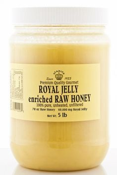 Stakich ROYAL JELLY Enriched RAW HONEY 5-LB - 100% Pure, Unprocessed, Unheated - - http://goodvibeorganics.com/stakich-royal-jelly-enriched-raw-honey-5-lb-100-pure-unprocessed-unheated/