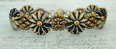 Daisy Chain Bracelet & SuperDuo Flower Chain Earrings