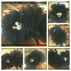 Haarband met blauwe bloemen. Binnenkort te bestellen op www.suzancreatief.nl