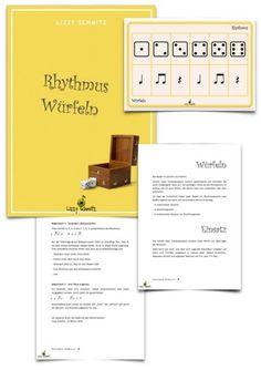 KOSTENLOS! Rhythmus Würfeln für #Musikunterricht 1.-5. Klasse #Grundschule  Ein…