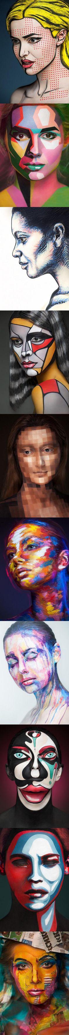 Hermosas fotografías de mujeres con caras pintadas perfectamente @ www.elmemeno.com