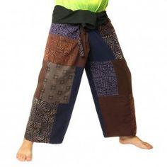 pantalon de pêcheur thaïlandais patchwork Taille L