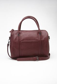 £27.90 - Forever 21 US Round Faux Leather Satchel