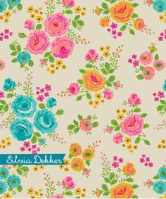 Floral pattern by Silvia Dekker for Flow Book for Paper Lovers.