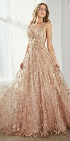 Rose Gold Wedding Dress, Gold Prom Dresses, Pretty Prom Dresses, Wedding Dresses, Rose Gold Long Dress, Rose Gold Evening Gown, Rose Gold Gown, Gold Wedding Gowns, Rose Gown