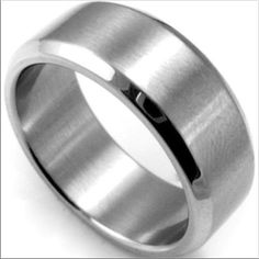 8MM Titanium Steel Ring Wedding Band Brand new Price firm No trades I do bundle Buy 3 items or more get 15% off order  Titanium Steel Ring Sizes: 6.5, 8, 9, 10, 11  Titanium steel metal is tougher than stainless steel will not rust tarnish or change colors and will not turn your finger green.                  ~Ring box included ~  PLEASE COMMENT SIZE WHEN BUYING THANK YOU Jewelry Rings