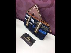 Como fazer uma carteira porta cartoes, notas e celular by Adriana Dourado - YouTube