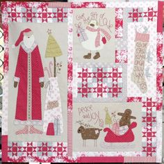 Christmas Blessings quilt - by The Birdhouse