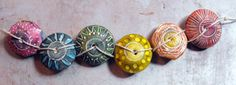 6 Colorful Artisan Statement Beads by MargitBoehmer on Etsy, $18.00