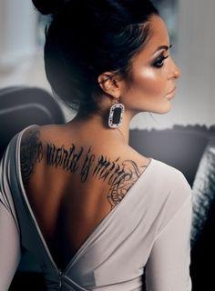 The world is mine old English tattoo #swag #pretty #classy #edge