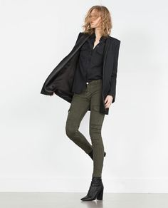 Image 1 of MILITARY TROUSERS MID-RISE from Zara