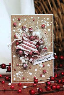 New Year card Christmas Mix, Christmas Paper Crafts, All Things Christmas, Handmade Christmas, Xmas Cards, Holiday Cards, Theme Noel, Christmas Scrapbook, Winter Cards