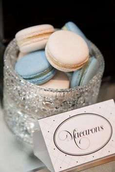macarons for Tiffany inspired party