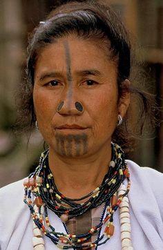 apatani woman, arunachal pradesh