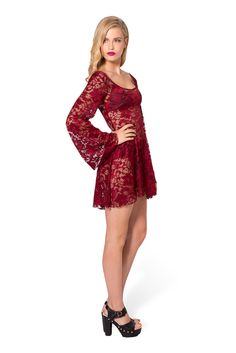 Arabella Wine Dress - LIMITED by Black Milk Clothing $99AUD
