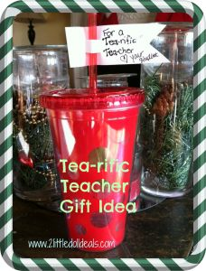 Tea-rific Teacher Gift Idea Easy DIY Christmas Gift #Christmas #teachergift #DIY