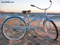 Classically designed beach cruiser from Beachbikes.  Single speed cruiser bike with a coaster brake rides smooth and easy, exactly the way cruiser riding should be.  Available in 12 colors, Urban Lady Baby Blue, $169.99 at http://www.beachbikes.net/products/Firmstrong-Urban-Lady-Single-Speed-Baby-Blue-Womens-26-Beach-Cruiser-Bike-845.html.