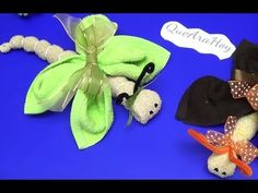 Waschlappen Schmetterling /mariposas de toalla - YouTube