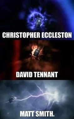 I love how Matt Smith gets struck by lightning