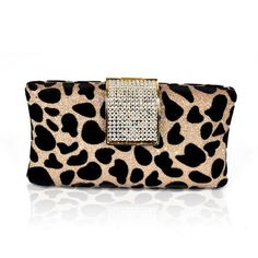 Clutch Leopardo e Strass