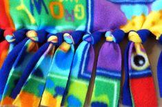 EASY DIY Tutorial for a Gorgeous Tied Fleece Blanket   Adrian's Crazy Life