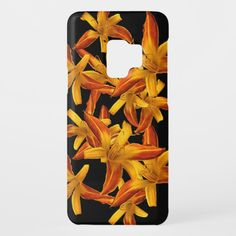 Orange Floral Pattern Daylilies Galaxy S9 Case