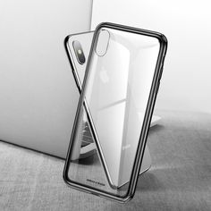 Baseus Luxury Glass Case For Iphone Xs Max Tpu Edge Tempered Glass Cases Back Protective Cover T Mobile Phones, Mobile Phone Cases, Iphone Parts, Gold Apple Watch, Accessoires Iphone, New Ipad Pro, Max Black, Ipad Stand, Coque Iphone