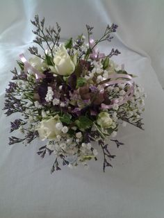 Country flowers cake top arrangement