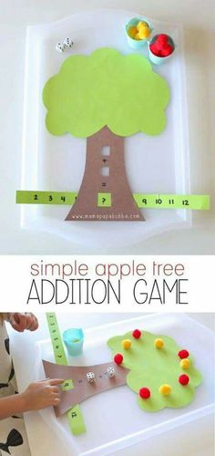 Children can practice math with this math tree, which is working on problem solving skills.
