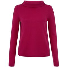 Hobbs Audrey Jumper (7.620 RUB) ❤ liked on Polyvore featuring tops, sweaters, shocking pink, pink sweater, jumper top, relaxed fit tops, pink top and purple sweater
