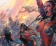 The Hindu Warrior Goddesses, Seven in number, (Sapta-Matrika) protect the gods from demons they can't handle on their own! The Goddess. sharing this powerful image just for you. (Victory to Mother Goddess) Urban People, The Mahabharata, Grant Morrison, Mother Goddess, Powerful Images, Fantasy Warrior, Indian Art, Indian Style, Gods And Goddesses