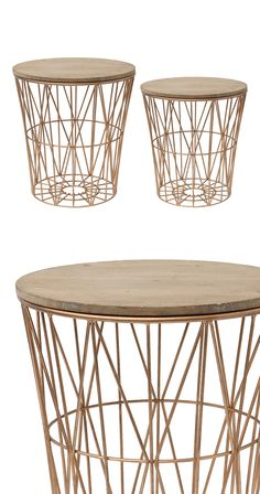 Looking to modernize your living space? With stunning bronze-finished geometric base designs and wooden lid tabletops, this set of Design End Tables will add a touch of contemporary flair to any room. ...  Find the Desi End Tables - Set of 2, as seen in the A Bohemian Cabin in Joshua Tree Collection at http://dotandbo.com/collections/a-bohemian-cabin-in-joshua-tree?utm_source=pinterest&utm_medium=organic&db_sku=114530