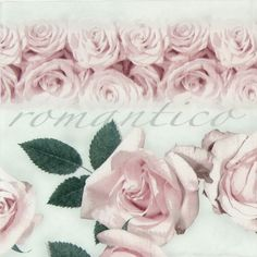 4 x Single Luxury Paper Napkins for Decoupage and Craft Romantico Vintage Roses
