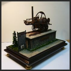 This paper model is a steam locomotive Invicta, created by balu11, the scale is in 1:16 (or 1:25?). This is a very detailed papercraft