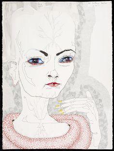 Del Kathryn Barton face again, water colour, gouache and ink on hot pressed paper ; 82 x 62 cm Del Kathryn Barton, Kunstjournal Inspiration, Art Journal Inspiration, Gallery Of Modern Art, Museum Of Modern Art, Melbourne Art, Australian Artists, Aboriginal Art, Art Fair