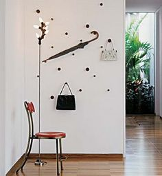 A great way to hang items.  Different and a little more interesting than the ordinary hooks.